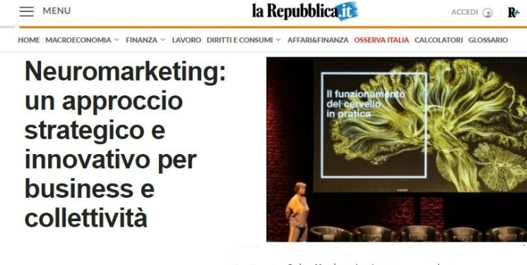 "BrainSigns on ""La Repubblica"" - Neuromarketing: a strategic and innovative approach for companies"